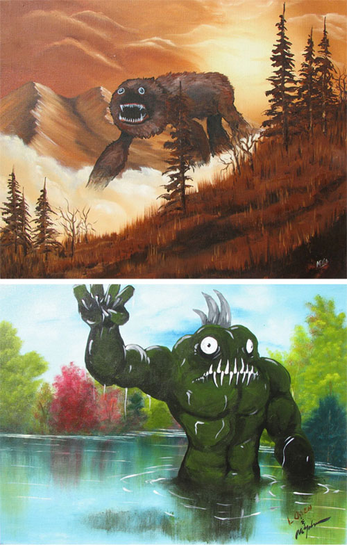 Involuntary collaboration- Monsters in landscape paintings