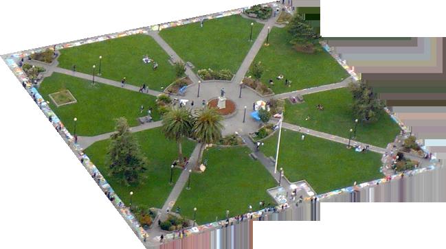 Arcata Plaza overhead