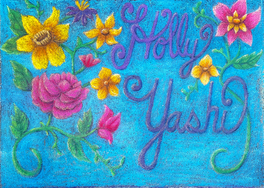 Holly Yashi floral pastel Leah Vaughn