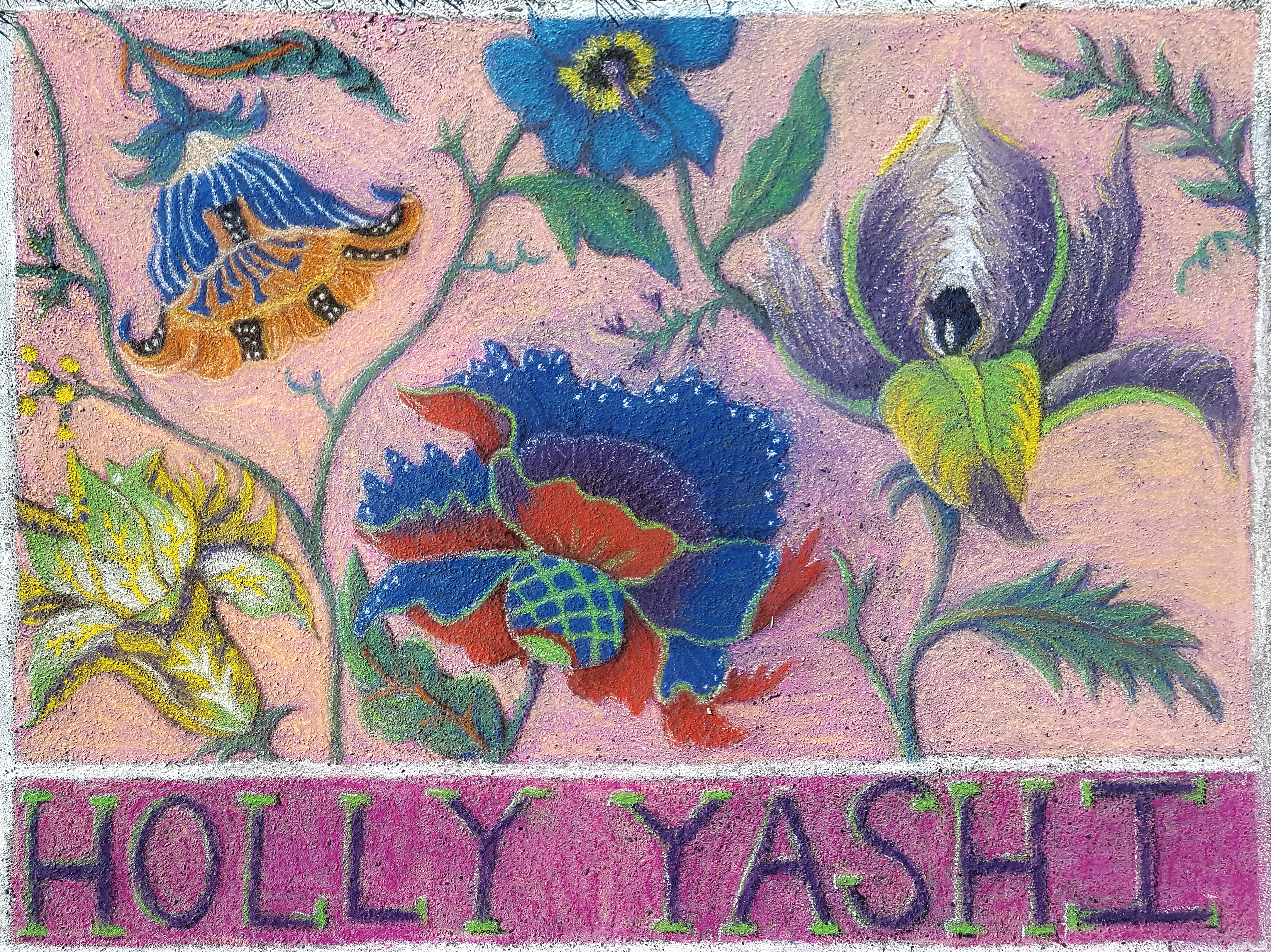 Leah Vaughn Pastel flowers