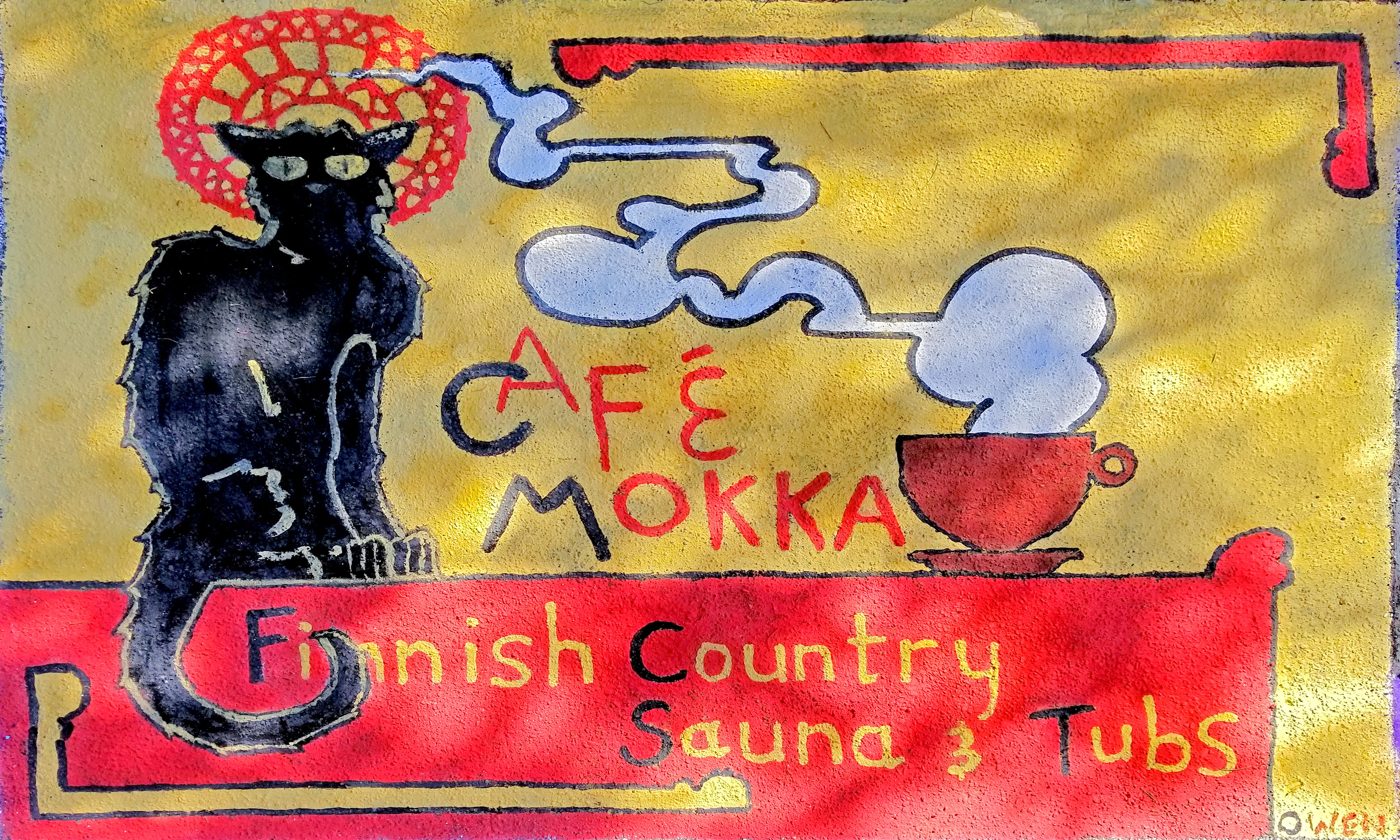 Cafe mokka chat noir